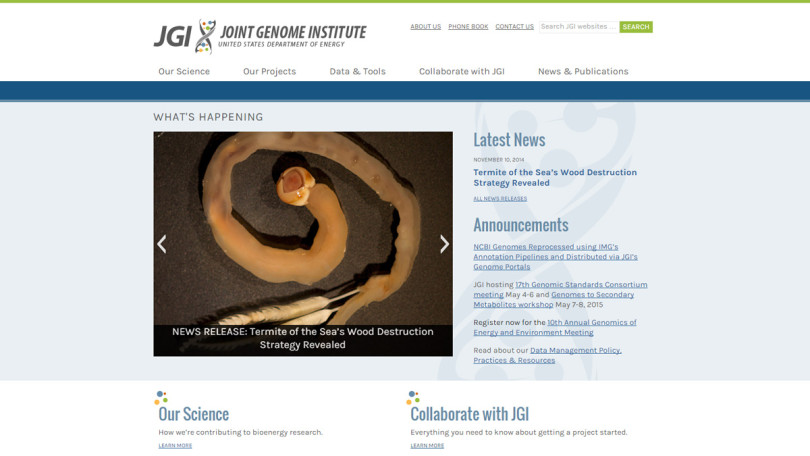Joint Genome Institute Home Page