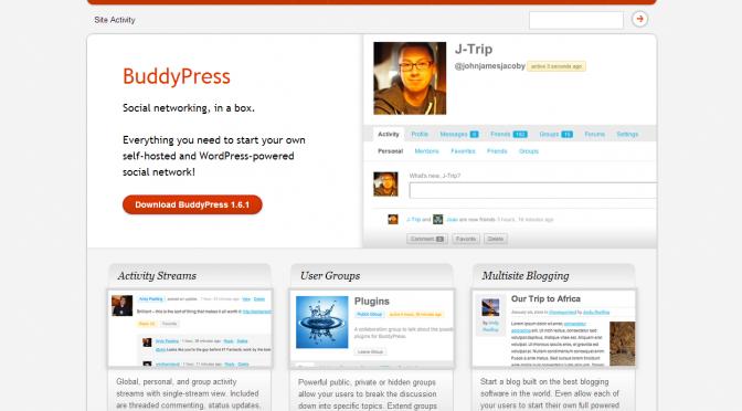 BuddyPress.org screenshot