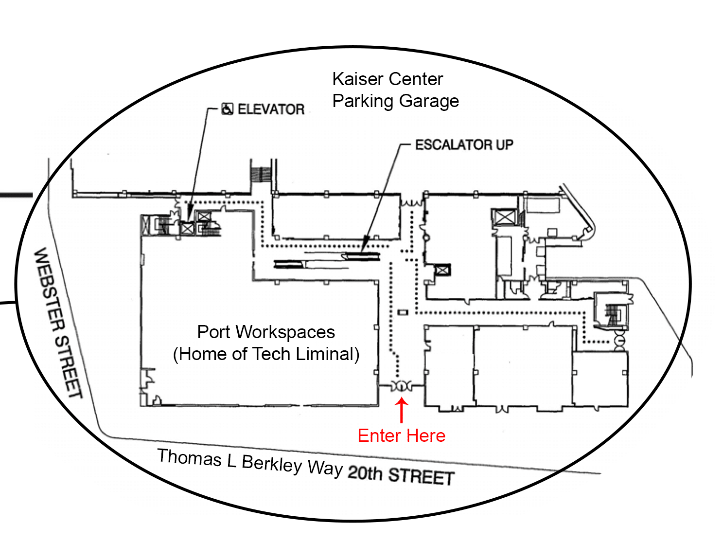 floor plan for Port Workspaces