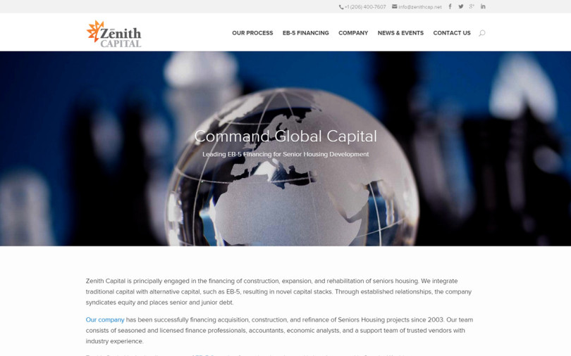Zenith Capital Home Page
