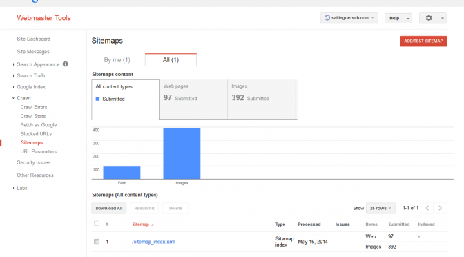 May 2014  Handout: Google Webmaster Tools