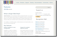 Zingiri Web Shop screenshot