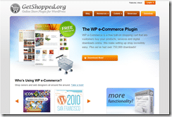 WP e-Commerce screenshot