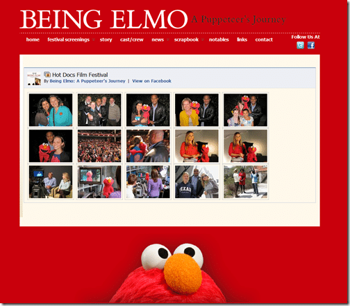 Embed Facebook on Being Elmo