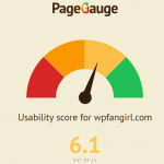 screenshot of PageGauge usability report for wpfangirl.com