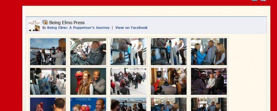 Facebook Grabber plugin used in Being Elmo website