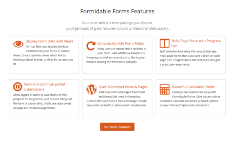 Top features of Formidable Pro