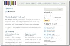 Zingiri Web Shop screenshot