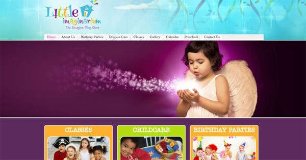 Screenshot of Little Imaginarium website