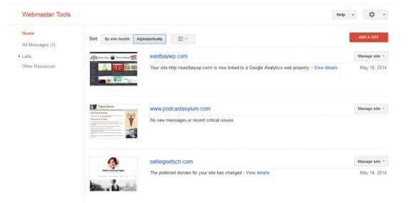 May 2014 Slides: Google Webmaster Tools for WordPress