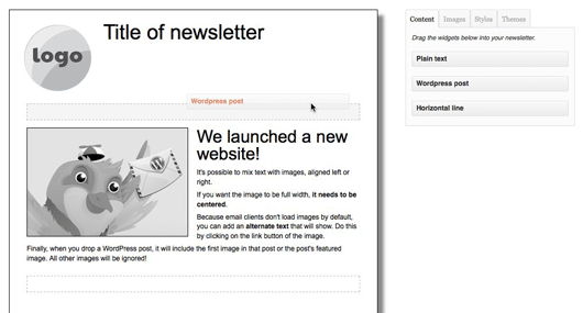 Wysija Newsletter Editor